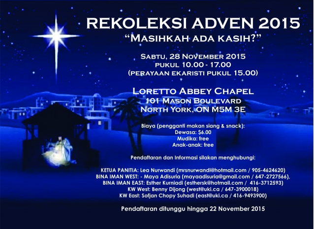Rekoleksi Advent 2015